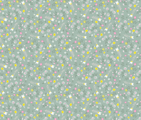 My neighbourhood floral fabric by lisa-glanz on Spoonflower - custom fabric