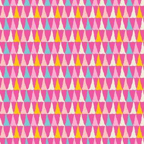 Candy slice - a playful bright multi colored geometric print