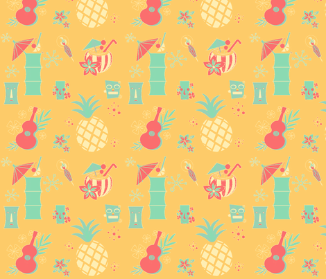 #SAGE Beach Party fabric by floramoon on Spoonflower - custom fabric