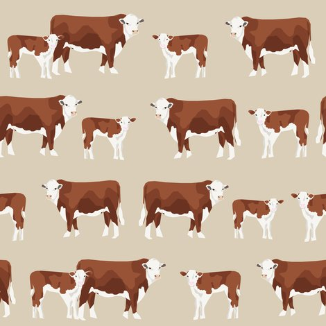 Rhereford_cattle_and_calf_3_shop_preview