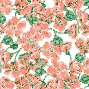 Peachy_Wild_Flowers_On_Cream