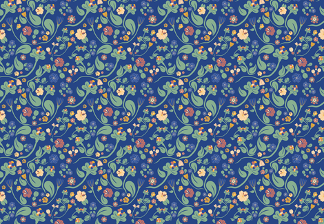 scandinavian paisley blue fabric by arrpdesign on Spoonflower - custom fabric