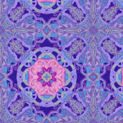 Purple Ornate flower motif