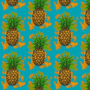 Pineapple Punch on Ocean Blue