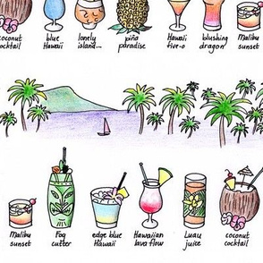 Cocktails and palms