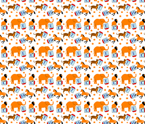 animal_alphabet_16 fabric by leroyj on Spoonflower - custom fabric