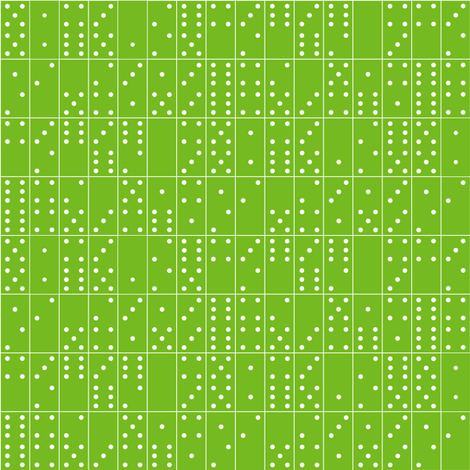 Domino Universe* (Grass) || dominoes game geometric polka dots kids children fabric by pennycandy on Spoonflower - custom fabric