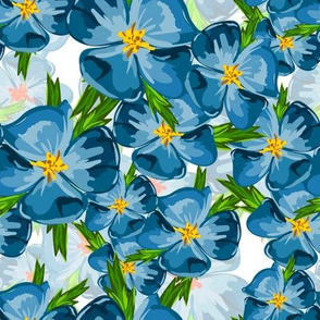 Blue garden flowers