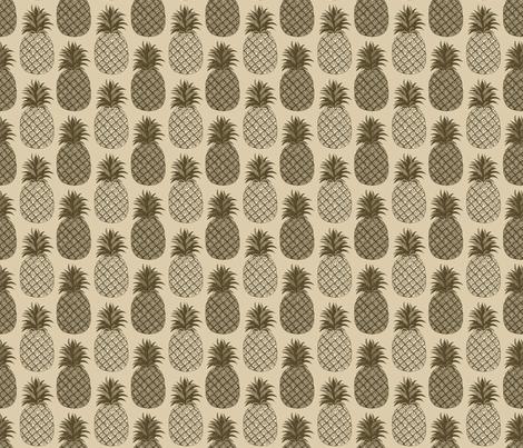 sepiahawaii_pineapple fabric by leroyj on Spoonflower - custom fabric