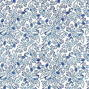 Blue floral  Micro