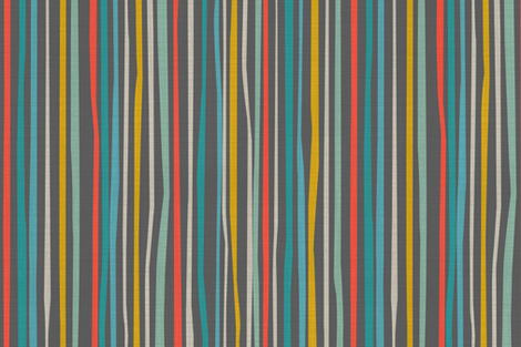 Llama O Rama Stripe No54 fabric by bzbdesigner on Spoonflower - custom fabric