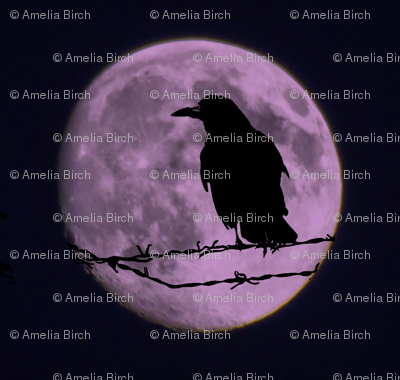 Purple Raven Moon