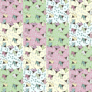 Pajama'd Baby Goats - Patchwork