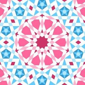 06524938 : UA5 V* : pink + blue star mosaic