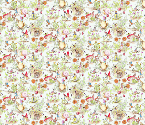 WatercolorFairiesSm fabric by blairfully_made on Spoonflower - custom fabric