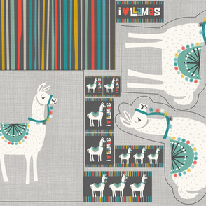 Llama O Rama Canvas Pillows
