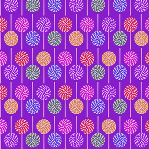 lollypops on purple