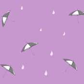 Umbrellas_and_raindrops_watermelon_-_Drawing_1