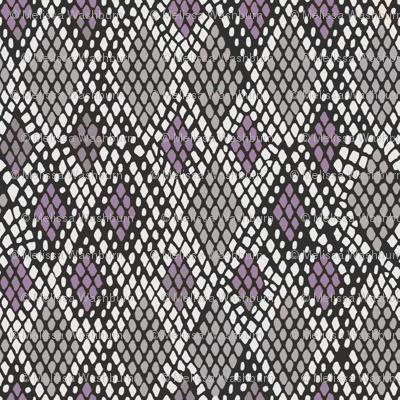 Grey and Purple Snakeskin