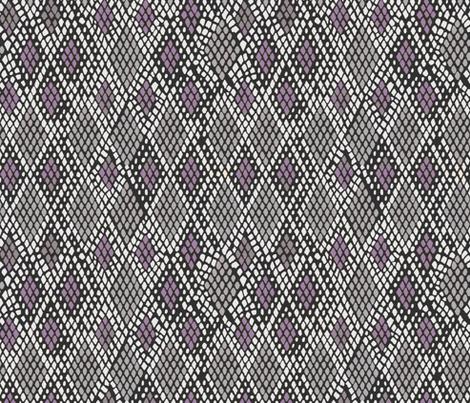 Grey and Purple Snakeskin fabric by washburnart on Spoonflower - custom fabric