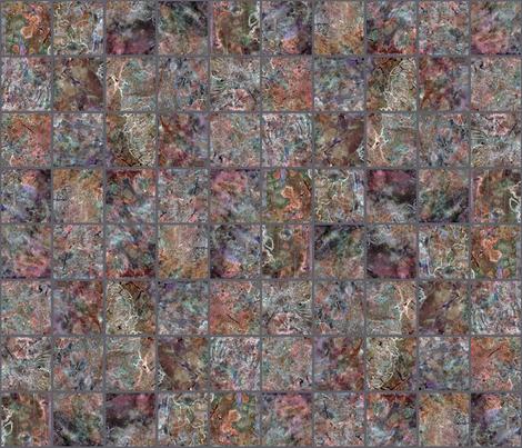 BMG Tiles - Rust Mix fabric by ann~marie on Spoonflower - custom fabric