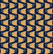 Fish Head Wavy Stripe