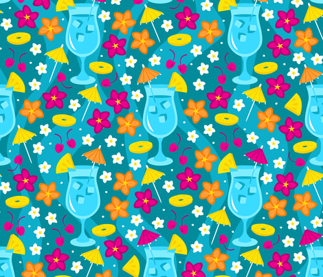 Tropical Delight fabric by robyriker on Spoonflower - custom fabric