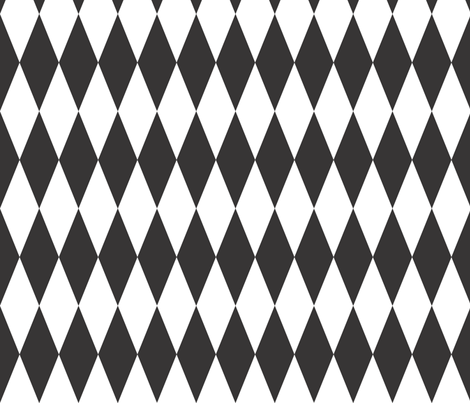 Circus_Diamonds_black_and_white fabric by colour_angel_by_kv on Spoonflower - custom fabric