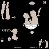Jane Austen Books by Pembertea - White Background