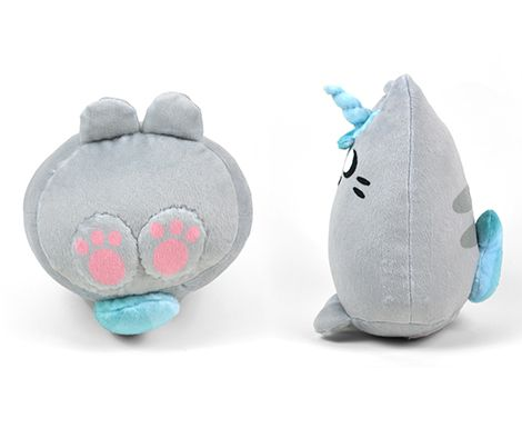 Cut & Sew Gray Unicorn Kitty Plush