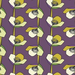 Chalyer Floral Stripe Purple