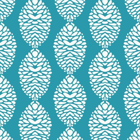 Deco Bloom Turquoise fabric by kirstenkatz on Spoonflower - custom fabric