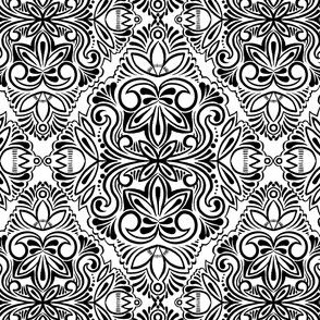 Black and White Damask 5