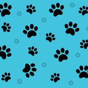 Paw prints blue Schnauzer Dogs