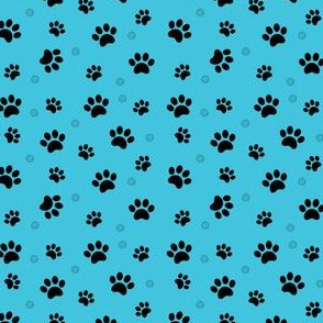 Paw prints blue Schnauzer Dogs