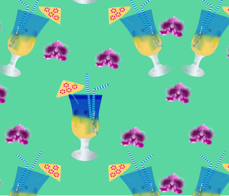 BLUE_HAWAII fabric by bugs4 on Spoonflower - custom fabric