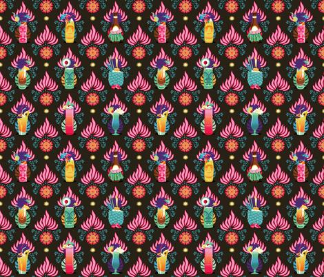 Tiki drinks fabric by camcreative on Spoonflower - custom fabric