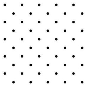 SouthWestern Large Dots B+W