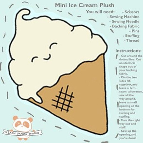 ice cream plush