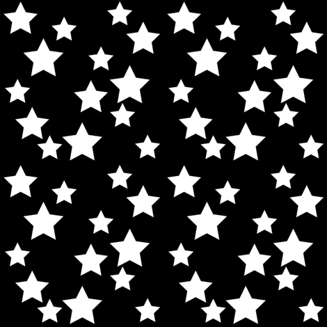 SouthWestern Stars W+B fabric by woodmouse&bobbit on Spoonflower - custom fabric