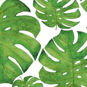 Watercolor tropical pattern.