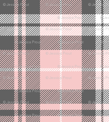 fall plaid - pink and grey - fearfully and wonderfully made coordinate fabric