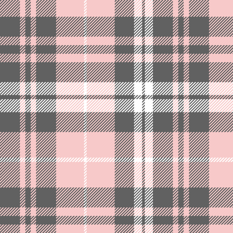 fall plaid - pink and grey - fearfully and wonderfully made coordinate fabric fabric by littlearrowdesign on Spoonflower - custom fabric