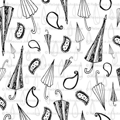 The Umbrellas of Paisley - White