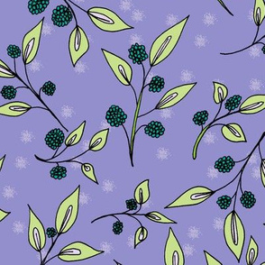 Brazenberries in Twinkling Twilight - Large Scale