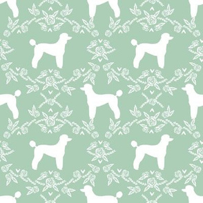 poodle silhouette floral minimal fabric pattern mint