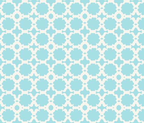 Morocco Garden- sky light cream fabric by drapestudio on Spoonflower - custom fabric