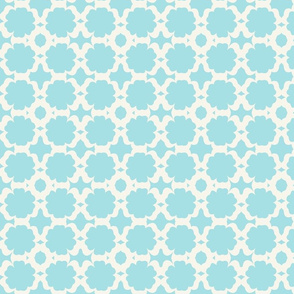 Morocco Garden- sky light cream