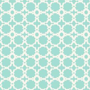 Morocco Garden- mint light  cream
