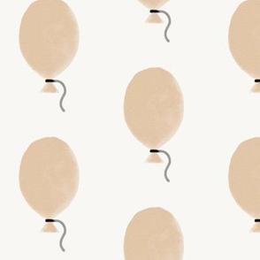 Balloons - watercolor balloons peach